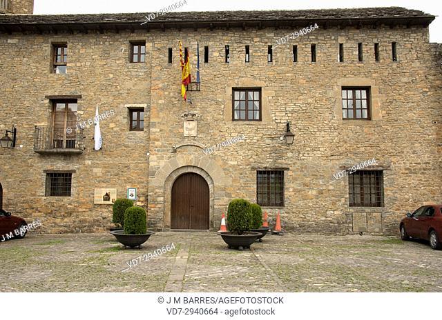 Ainsa, town hall. Sobrarbe, Huesca province, Aragon, Spain