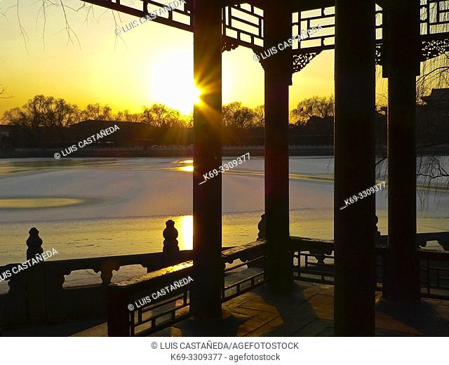 Beihai Park in Winter. . Beijing. . China