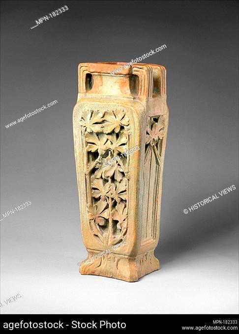 Vase. Maker: Georges Hoentschel (French, Paris 1855-1915 Paris); Date: ca. 1890-1900; Culture: French, Saint-Amand-en-Puisaye; Medium: Stoneware; Dimensions:...