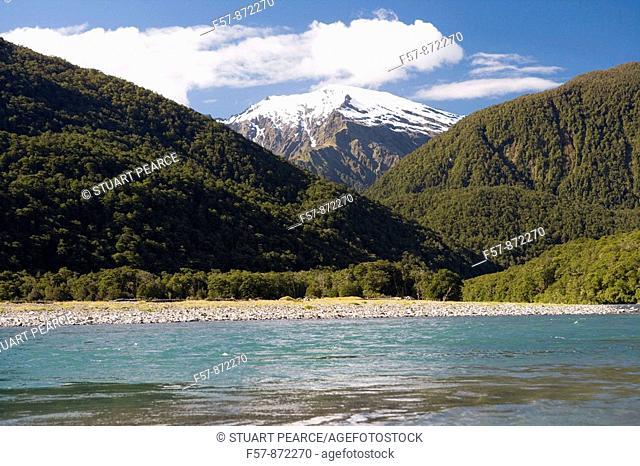 Makarora River, Aspiring National Park, South Island, New Zealand