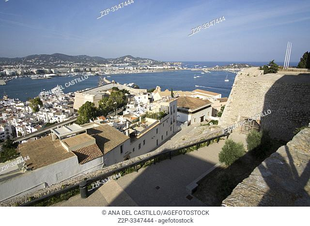 Ibiza Old Town, Dalt Vila streets Balearic islands Spain on June 21, 2019