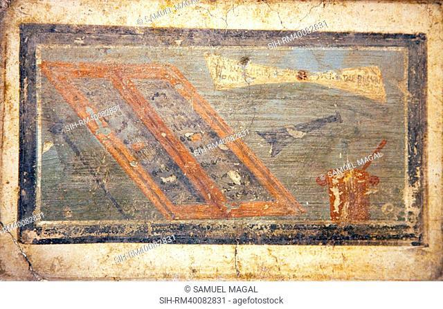 Italy, Naples, Naples Museum, from Pompeii, Marco Lucrezio Casa IX, 3, 5, Instrumentum Scriptorium