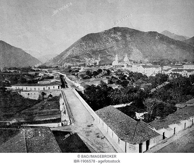 Early autotype of Orizaba, Mexico, 1880
