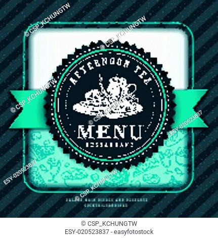 graceful afternoon tea menu design