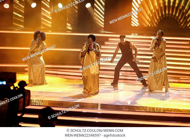 Record of the Carmen Nebel Show at Tui Arena Hannover broadcast 02.04.2015, 20.15 Uhr, ZDF Featuring: Boney M. Where: Hamburg