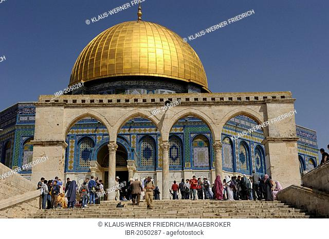 Stairs to the Dome of the Rock on the Temple Mount, Muslim Quarter, Old City, Jerusalem, Israel, Middle East