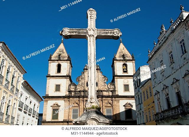 Church of Orden 3a Secular of San Francisco de Bahia and Crucifix for Sao Francisco de Xavier, Patron Saint of Salvador, Pelourinho Old quarter