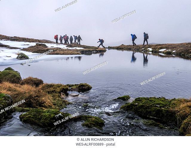 UK, Scotland, Glencoe, trekking at Stob Coire Nan Lochan