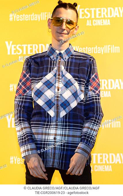 G.bit during the photocall of film ' Yesterday ' in Milan, ITALY-20-06-2019
