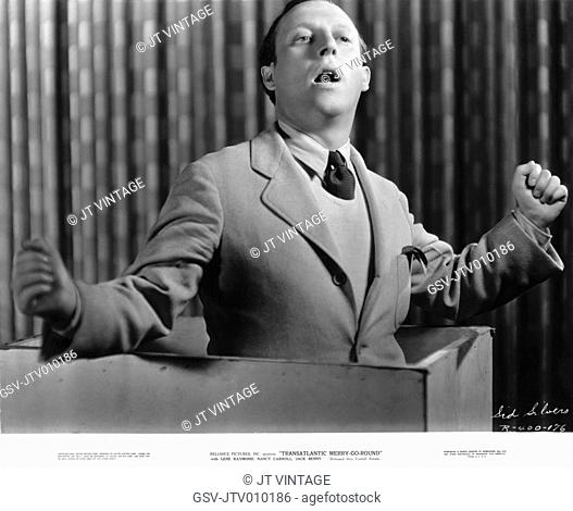 Sid Silvers, Publicity Portrait for the Film, Transatlantic Merry-Go-Round, Reliance Pictures, Inc., released through United Artists, 1934