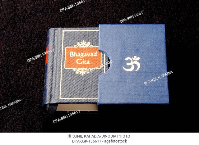 Indian sacred and epic book Bhagvad Gita in miniature form , India