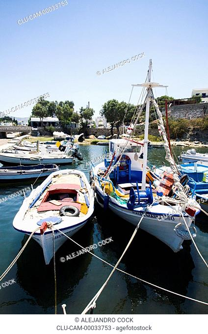 Boats in Parikia, Paros, Greece, Western Europe
