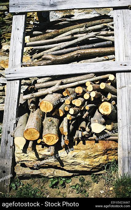 Woodpile, Vigezzo Valley, Piedmont, Italy
