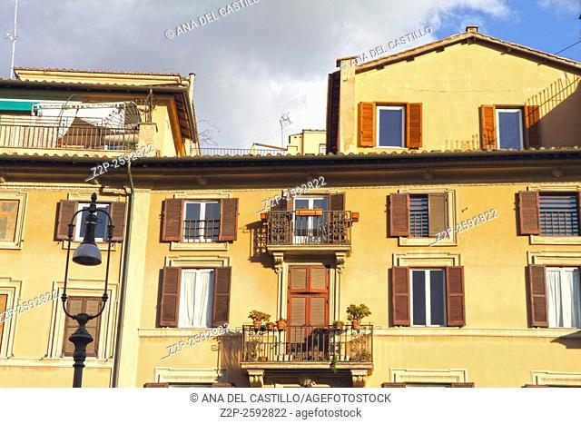 Piazza Navona facades. Rome, Italy