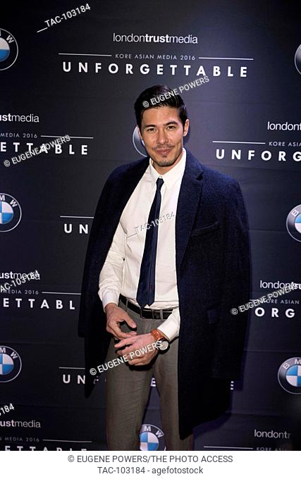 Lewis Tan arrives at Unforgettable Gala December 10, 2016 in Beverly Hilton, Beverly Hills, California