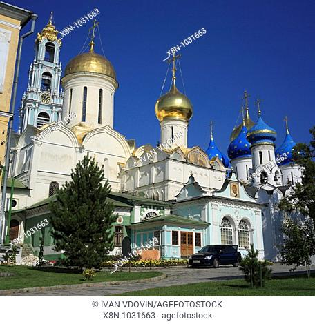 Trinity Cathedral 1422-1423, Trinity Lavra of St  Sergius, Sergiyev Posad, Moscow region, Russia