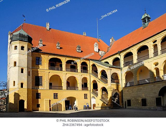 Landshut, Bavaria, Germany. Burg Trausnitz (Castle) above the town
