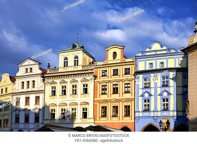 Prague Czech Republic. Historical buildings in Old Town Square