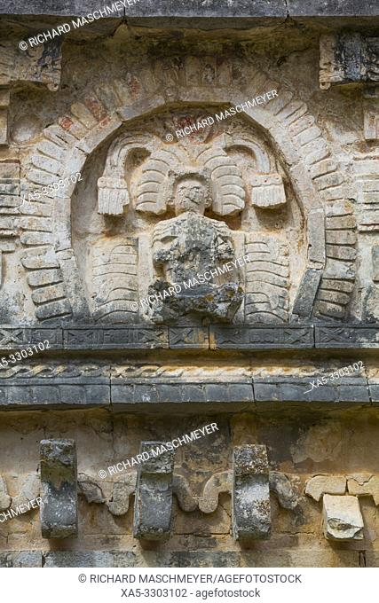 Sculpture, Iglesias (Church), Chichen Itza, UNESCO World Heritage Site, Yucatan, Mexico