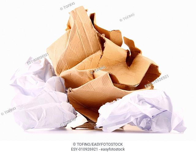 Recycling paper isolated on white background