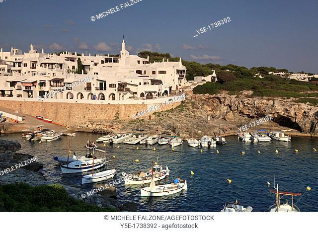 Spain, Balearic Islands, Menorca, Fishing Village of Binibequer Vell
