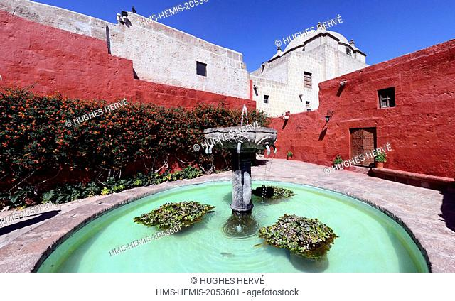 Peru, Arequipa Province, Arequipa, historical center listed as World Heritage by UNESCO, Santa Catalina Monastery founded in 1530