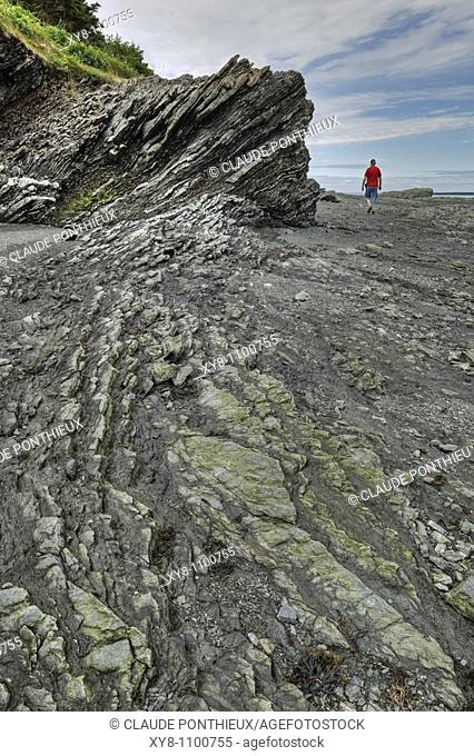 Rock-formation, Bic-national-park, Québec, Canada