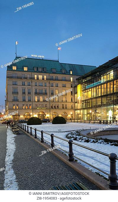 Hotel Adlon, at night,Unter den Linden,Mitte,Berlin,Germany