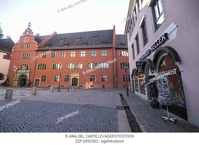 Town hall square in Freiburg im Breisgau, Germany