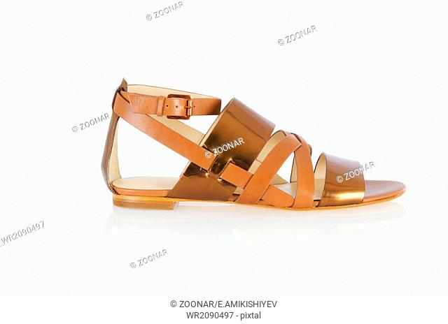 Woman sandals isolated on the white