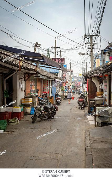 China, Shanghai, Back road of Qibao Ancient Town