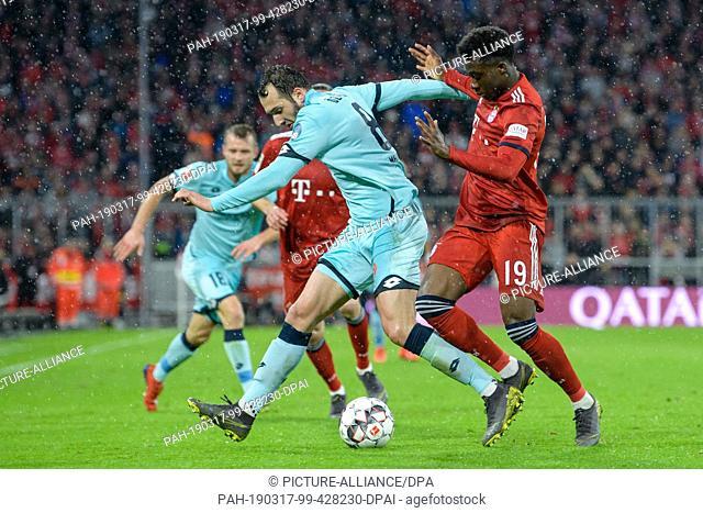 17 March 2019, Bavaria, München: Soccer: Bundesliga, FC Bayern Munich - FSV Mainz 05, 26th matchday in the Allianz Arena