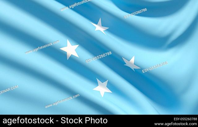 Background with flag of Background with flag of Federated States of Micronesia