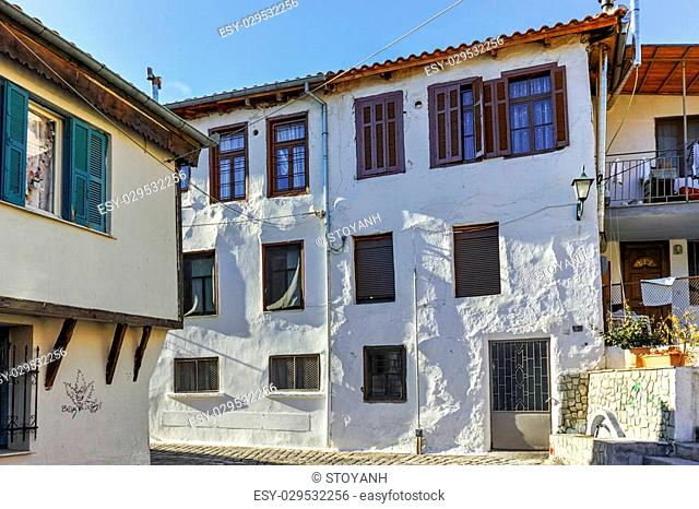 Typical house and fountainin old town of Xanthi, East Macedonia and Thrace, Greece