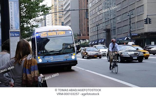 The new MTA Select Bus Service, public transportation, 2nd Avenue near Grand Central Terminal, Manhattan, New York City