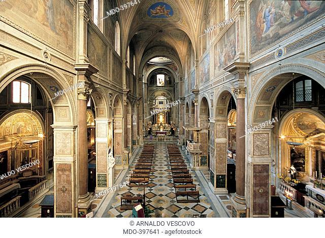 Sant'Agostino Church, by Giacomo da Pietrasanta, 1479 - 1483, 15th Century, Unknow. Italy, Lazio, Rome, Sant'Agostino Church. All
