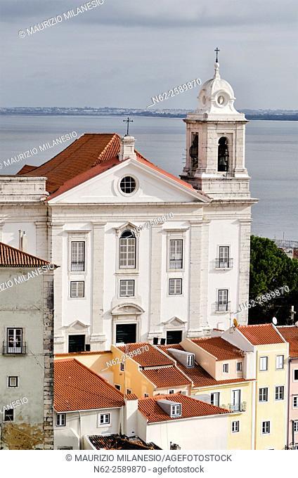 Overview from Graça Terrace, Alfama district, Lisbon, Portugal