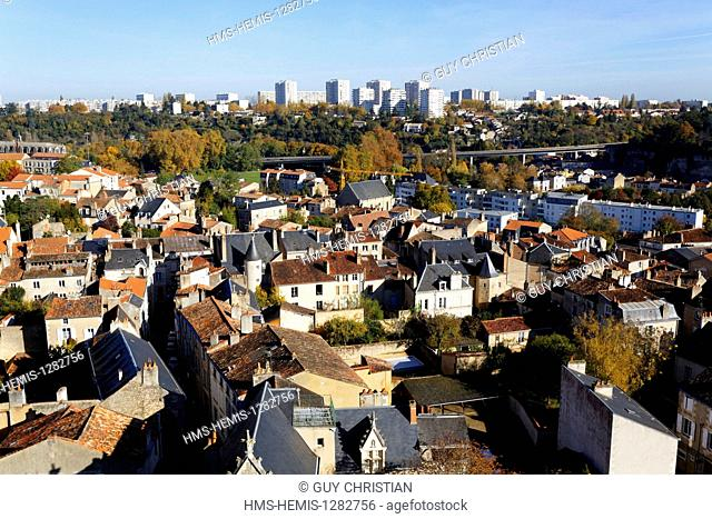France, Vienne, Poitiers, seen from Saint Pierre Cathedral