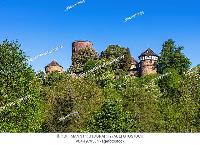The picturesque Trendelburg (Rapunzel's castle) on the German Fairy Tale Route, Trendelburg, Hesse, Germany, Europe