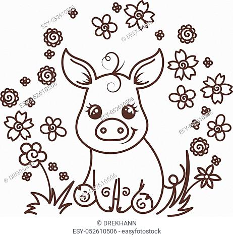 Pictures Of Pigs To Color - Coloring Home | 470x462