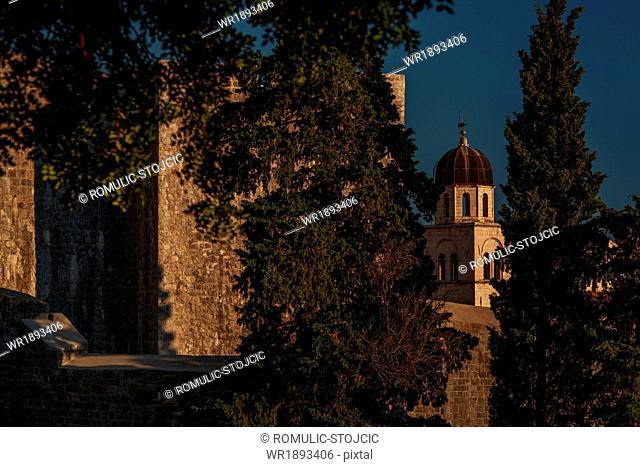 Fort and cathedral of Dubrovnik, Dalmatia, Croatia