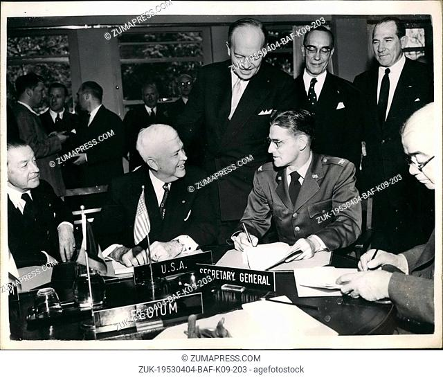 Apr. 04, 1953 - Contracts Signed For 53,000,000 British Aircraft Order Under The North Atlantic Treaty: Britain is to get orders worth 53,500