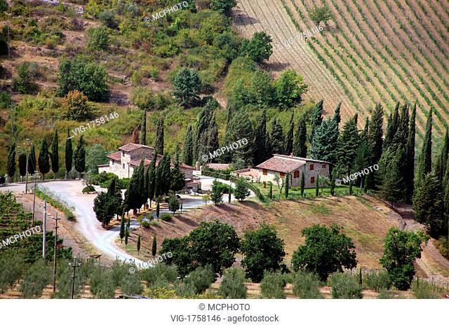 Tuscany, Italy - Toskana; Toscana, Italien, 31/07/2009