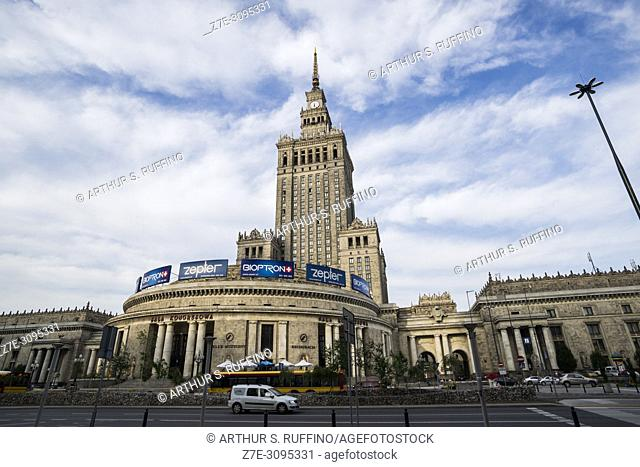 Palace of Culture and Science, Plac Defilad 1, Warsaw, Poland, Europe