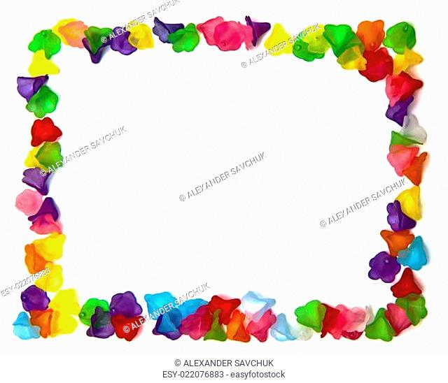 frame of colorful beads