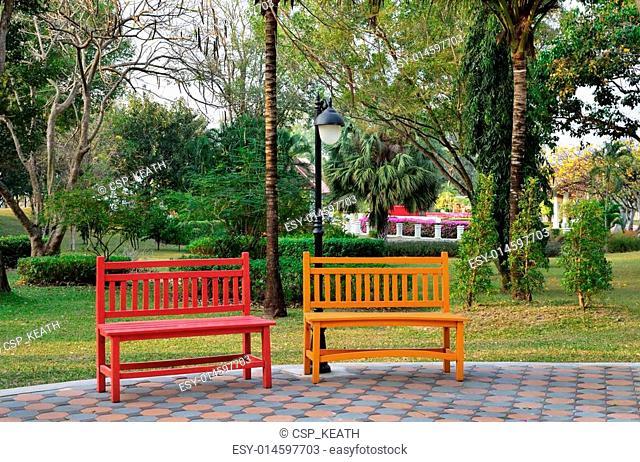 Heavy Duty Counter Stools, Garden Bench Shade Stock Photos And Images Agefotostock