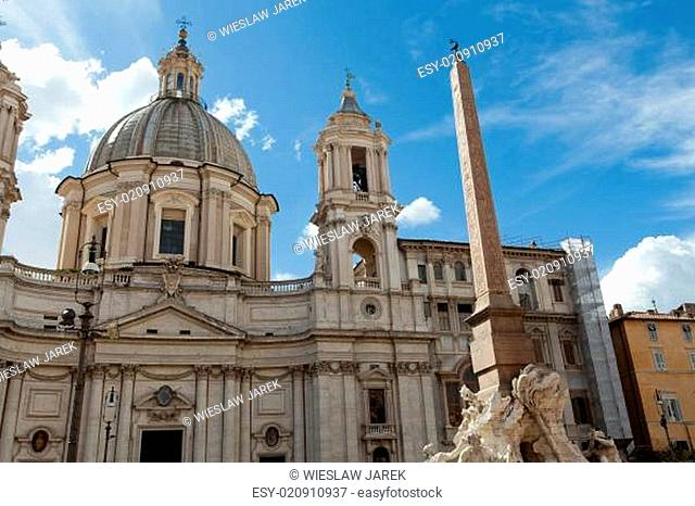 Sant'Agnese in Agone at Piazza Navona in Rome, Italy