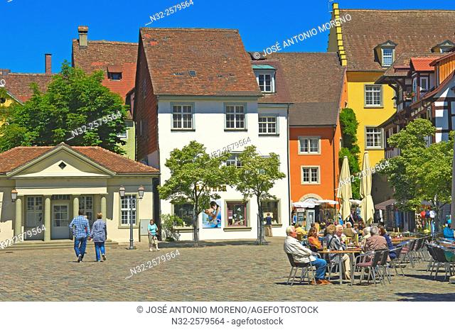 Meersburg, Market square, Lake Constance, Bodensee, Baden-Wuerttemberg, Germany, Europe