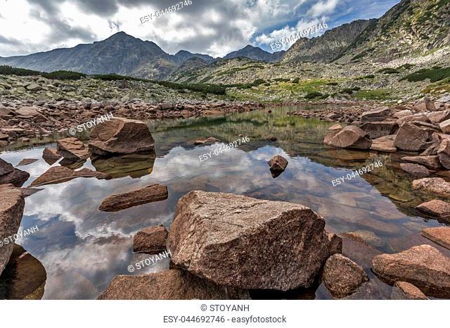 Amazing Landscape with Musala peak in Musalenski lakes, Rila mountain, Bulgaria