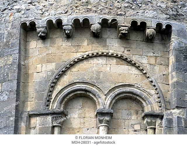 Romsey Abbey/Konsolen an der Südseite des Chors